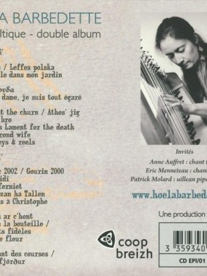 DOUBLE CD HOËLA BARBEDETTE - CERISIER harpe solo 2