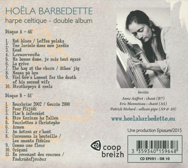 DOUBLE CD HOËLA BARBEDETTE – CERISIER harpe solo 2