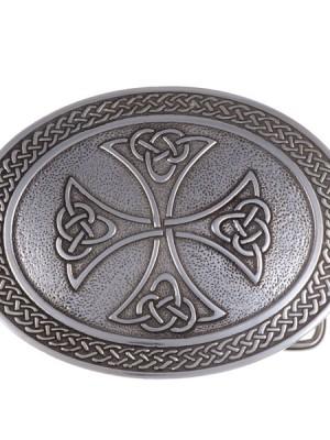 boucle étain croix celte
