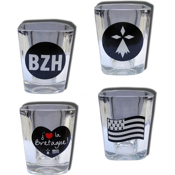 Coffret 4 Shot Glass Bretagne
