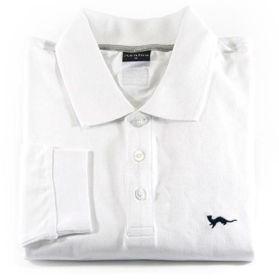 Polo Hermine Blanc Hermine Manches Longues – Agalon