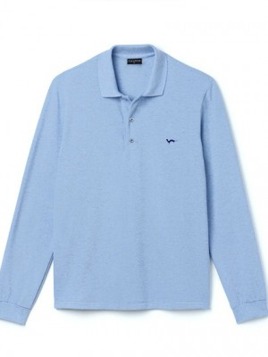 Polo Hermine Bleu Brumaire Manches Longues
