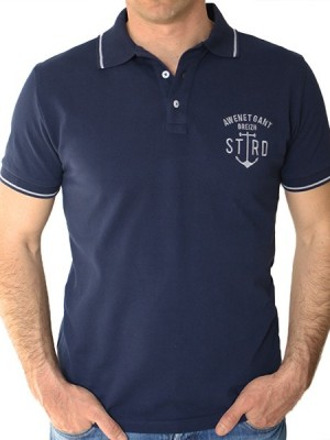 Polo Homme Eor - Marine - Stered