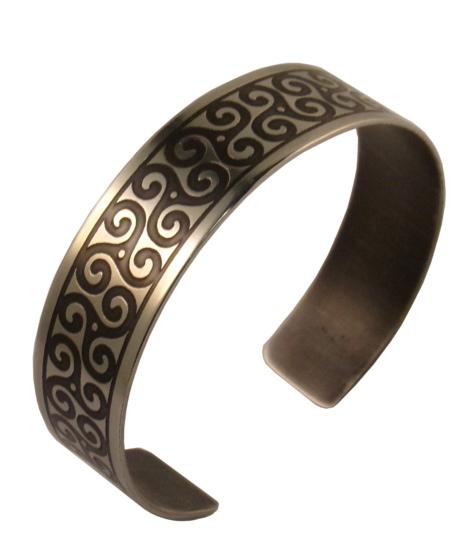 Bracelet breton triskell inox fin