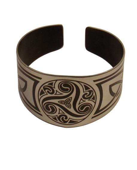 bracelet breton triskell inox large