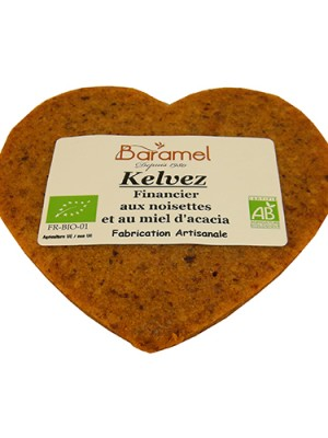Financier aux noisettes bio