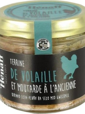 terrine de volaille moutarde ancienne 90g henaff selection
